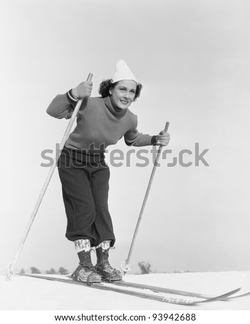 SLIPPERY SLOPES - stock photo