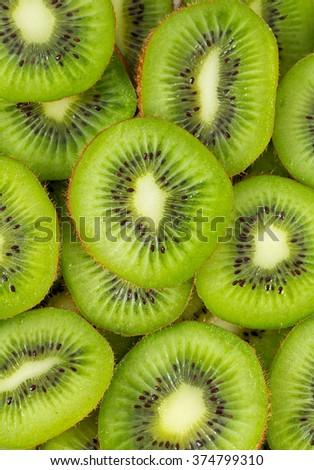 slived kiwi - stock photo