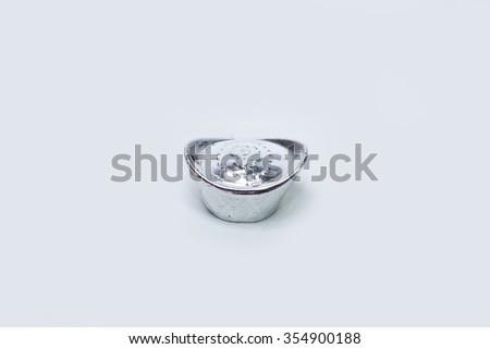 sliver ingot  - stock photo