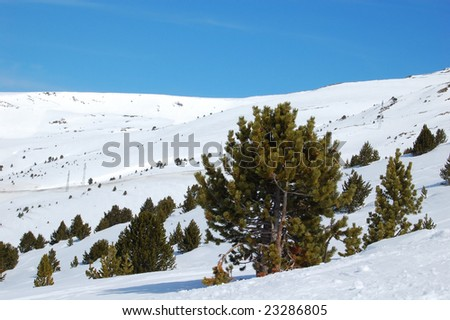 slope of andorra - stock photo