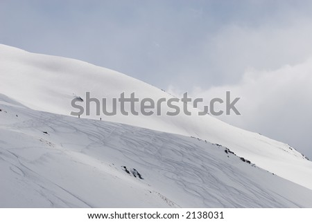 slope of the hill - stock photo