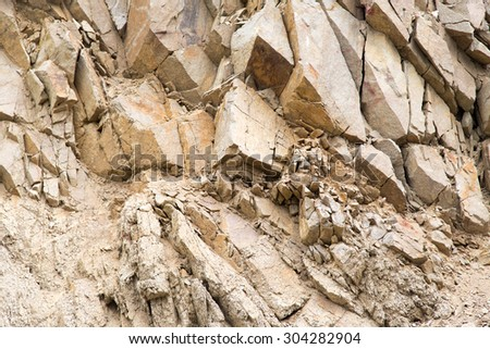 slope of the rocky mountains as a backdrop - stock photo