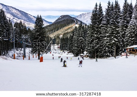 Slope on the skiing resort in Jasna, Slovakia