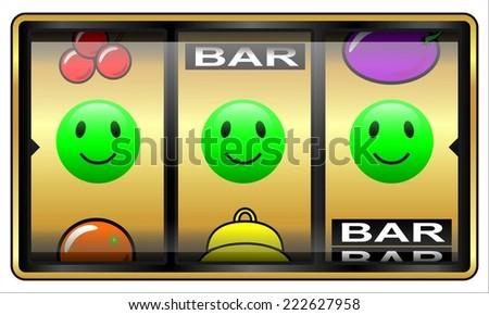 Slot machine, gambling illustration, lucky - stock photo