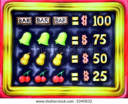 Slot Machine Prize Marquee - stock photo