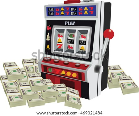 slot machine with currency heap vincit