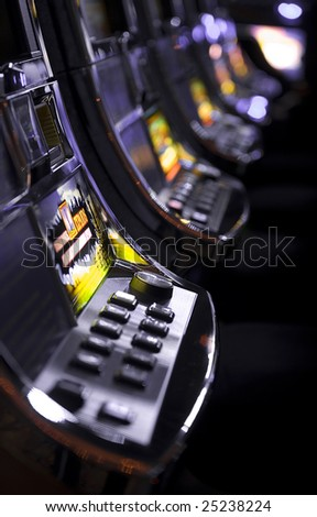 slot machines - stock photo