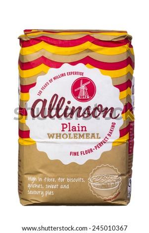 Slough Uk January 17 2014 1 5kg Bag Of Allinson Plain Wholemeal