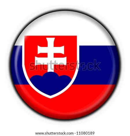 Slovakia button flag round shape