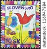 SLOVAKIA - CIRCA 2006: A stamp printed in Slovakia dedicated to Children Day, circa 2006 - stock photo