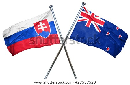 Slovakia flag  combined with new zealand flag