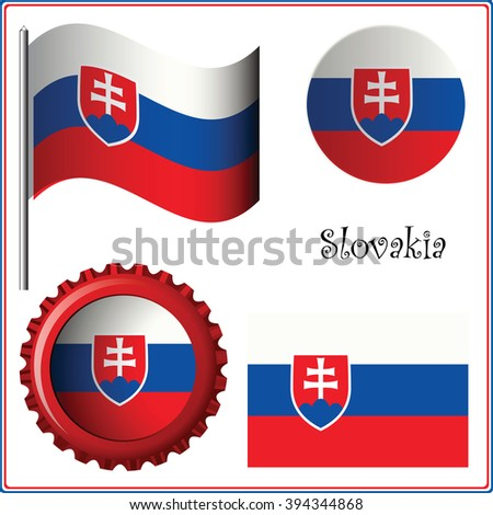 slovakia graphic set against white background, art illustration; image contains transparency