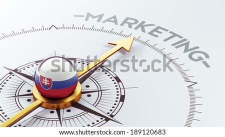 Slovakia High Resolution Marketing Concept