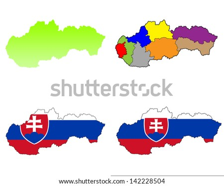 slovakia map collection