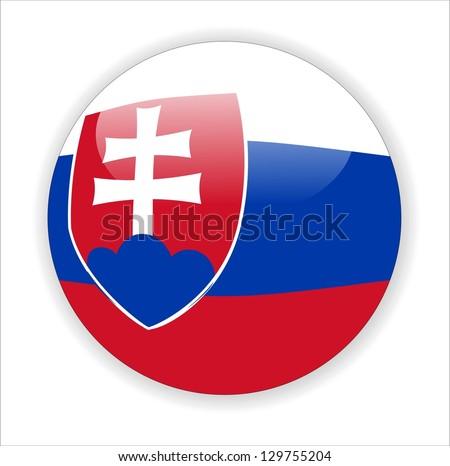 slovakia map icon - stock photo