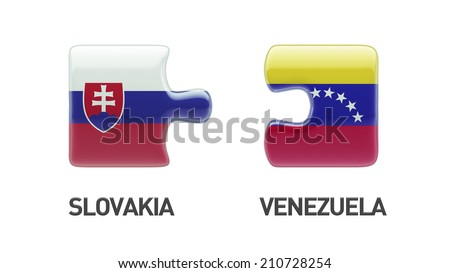 Slovakia Venezuela High Resolution Puzzle Concept