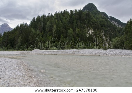 Slovenian Alps near Kranjska Gora - stock photo