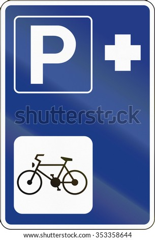Slovenian road sign - Park and Ride facilities.