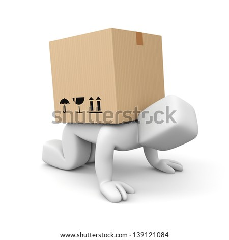Slow delivery - stock photo
