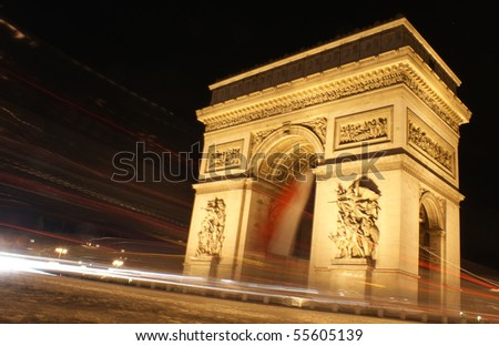 Slow shutter speed shot , Paris