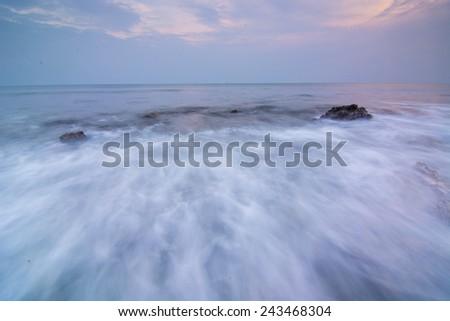 Slow speed Seascape. - stock photo