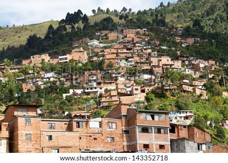 Slum Medellin, Colombia - stock photo