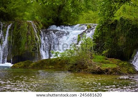 Slunj waterfall, Croatia  - stock photo