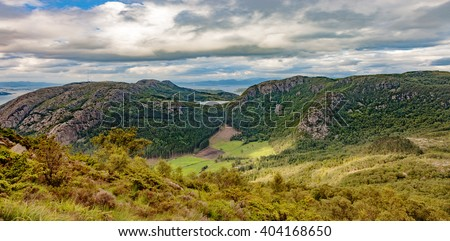 Smal lake in mountains - Norway Landscape. - stock photo