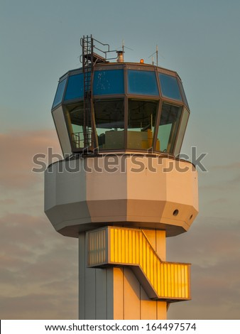 Small Air Traffic Control Tower as a Synbol for Holiday Feeling - stock photo