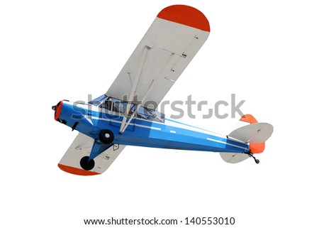 small airplane isolated - stock photo