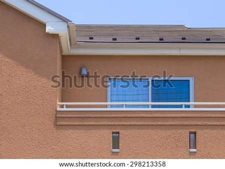 Small and new modern apartment building - stock photo