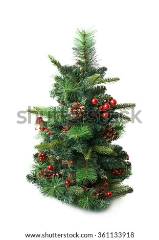 small artificial christmas tree isolated - Small Black Christmas Tree