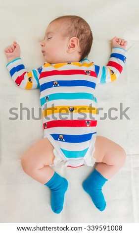 Small baby in childhood concept - stock photo