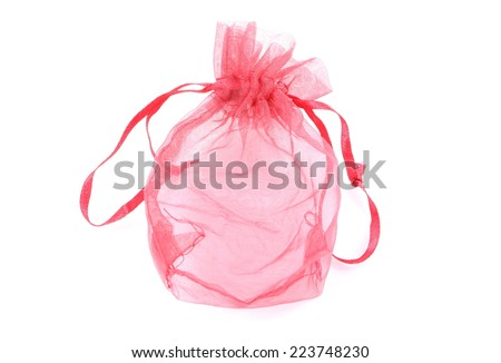 Small bag of gold - stock photo