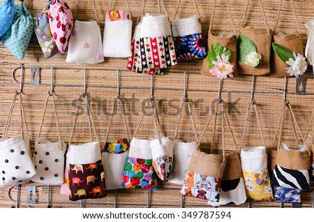 Small bag. Several type. - stock photo
