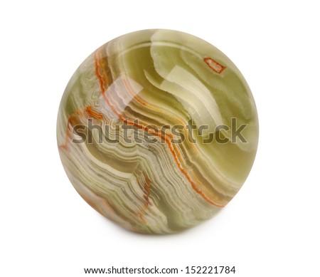 small ball of jasper - stock photo