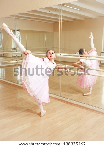small ballerina at dancing school