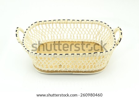 small basket isolated in white background