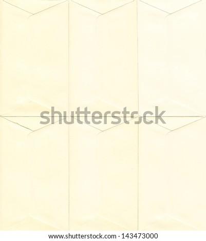 Small beige vintage envelopes background - stock photo