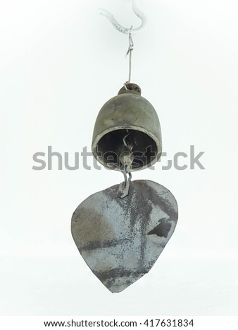 Small bell in Buddhist temple - stock photo
