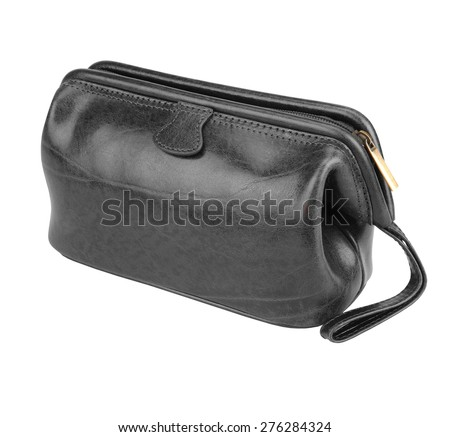 Small black bag isolated on white background.