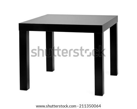 Small black coffee table - stock photo