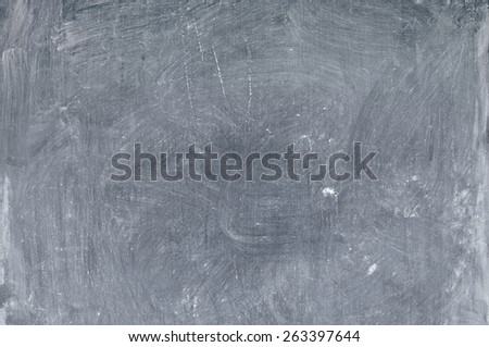 small blackboard chalk stained after erasing a written texture - stock photo