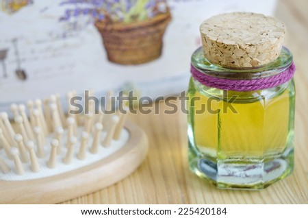Small bottle of cosmetic oil - stock photo