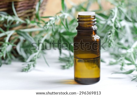 Small bottle of wormwood essential oil (tincture)