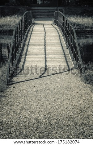 Small Bridge in Black and White