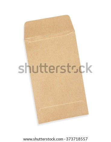 Small Brown envelope isolated on white background