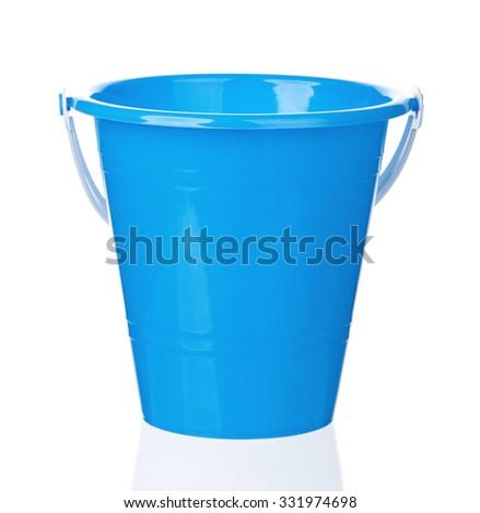 Small bucket, isolated on white background - stock photo