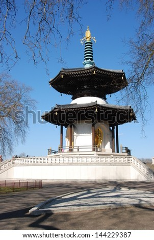 Small Buddha Temple in London, Batersea park
