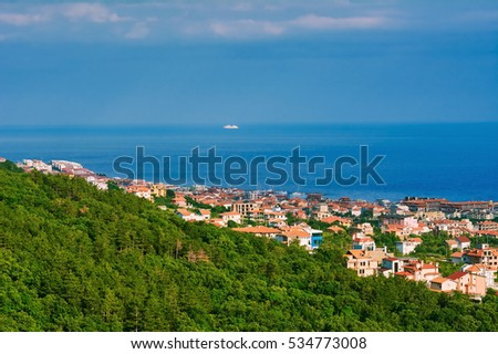 Small Bulgarian Town on the Shore of Black Sea
